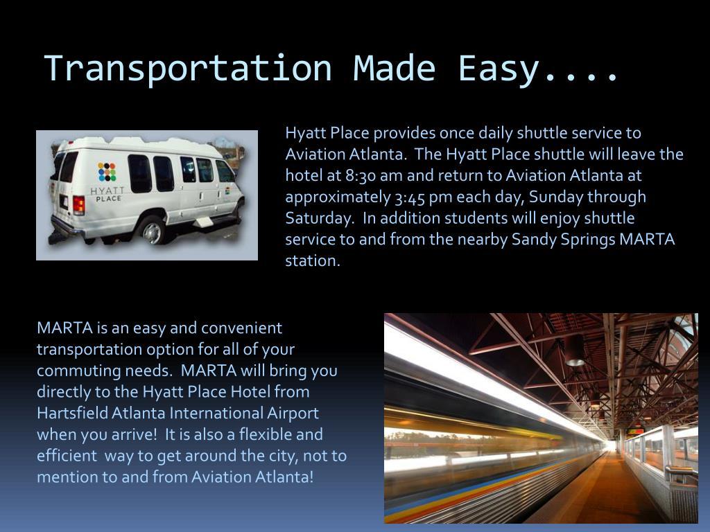 Transportation Made Easy....