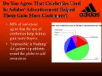 do you agree that celebrities used in adidas advertisement helped them gain more customers