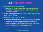 2 6 practical issues 1