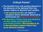 critical points 2