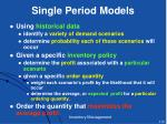 single period models