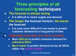 t hree principles of all forecasting techniques