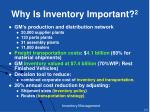 why is inventory important 2