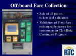 off board fare collection