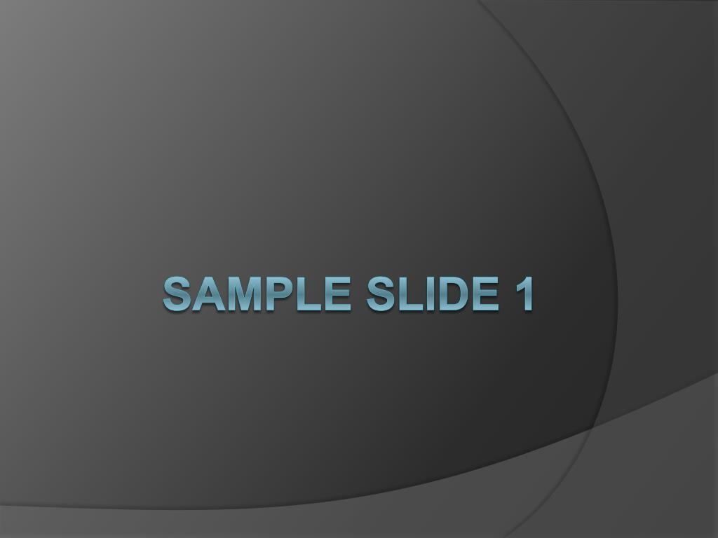 sample slide 1 l.