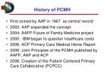 history of pcmh