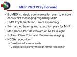 mhp pmo way forward