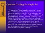 content coding example 4