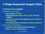 2 stage sequential supply chain