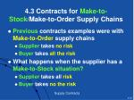 4 3 contracts for make to stock make to order supply chains