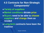 4 5 contracts for non strategic components 1