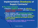implementation drawbacks of supply contracts 1