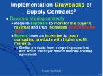 implementation drawbacks of supply contracts 2