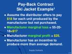 pay back contract ski jacket example 1