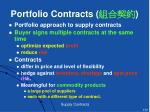 portfolio contracts