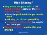 risk sharing 2