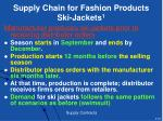 supply chain for fashion products ski jackets 1