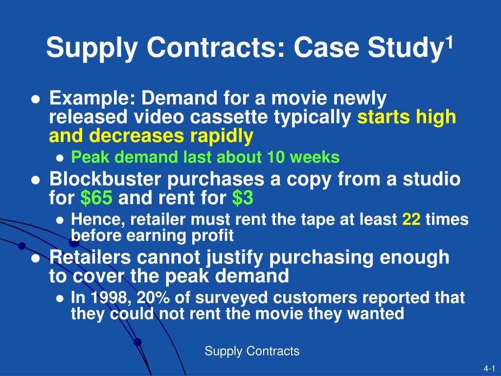 supply contracts case study 1 l.