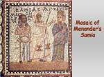 mosaic of menander s samia