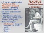 plautus titus maccius plautus c 254 184 b c e