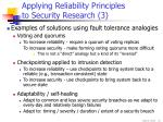 applying reliability principles to security research 3