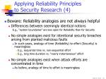 applying reliability principles to security research 4