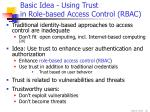 basic idea using trust in role based access control rbac
