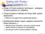 dealing with threats threat avoidance 1