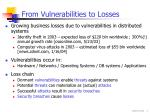 from vulnerabilities to losses