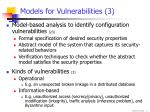 models for vulnerabilities 3