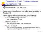 overview fraud countermeasure mechanisms 1
