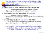overview privacy preserving data dissemination