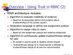 overview using trust in rbac 2
