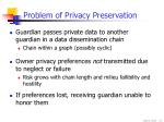 problem of privacy preservation