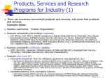 products services and research programs for industry 1