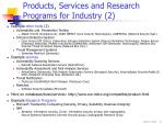 products services and research programs for industry 2