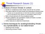 threat research issues 1