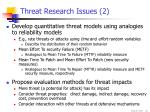 threat research issues 2