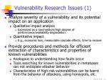 vulnerability research issues 1