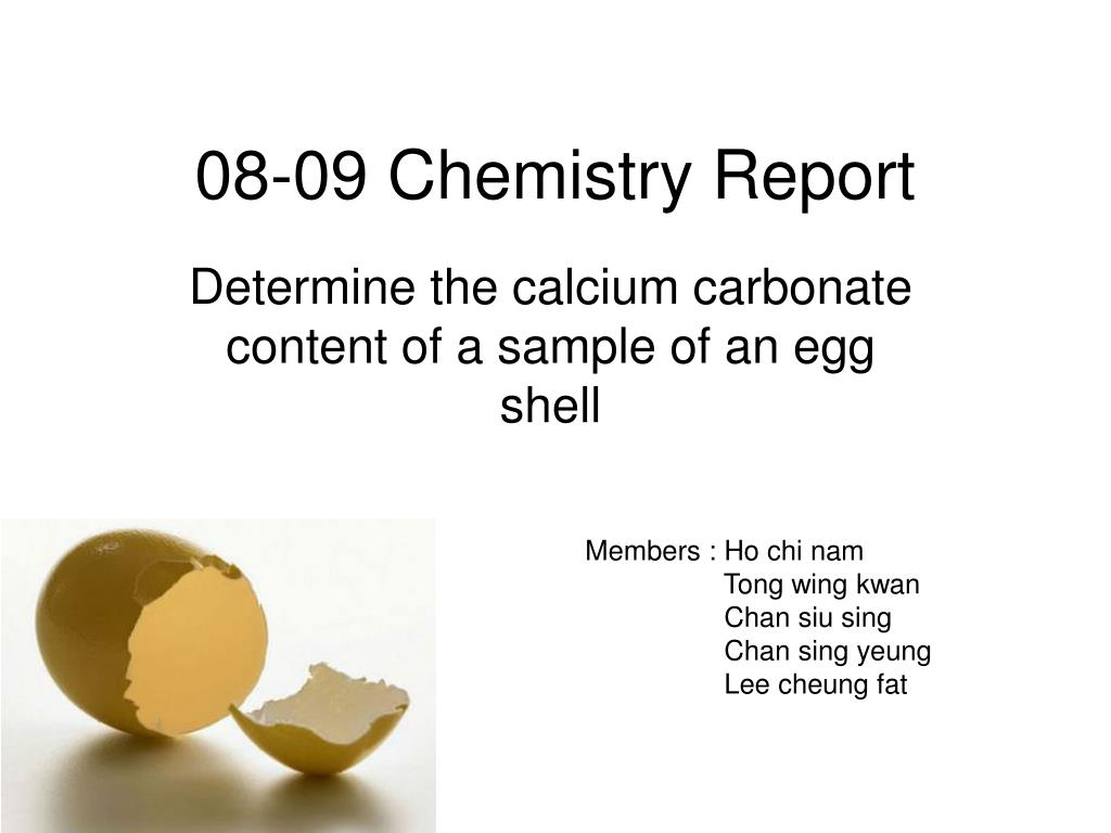 08 09 chemistry report l.