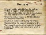 remarks