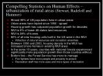 compelling statistics on human effects urbanization of rural areas stewart radeloff and hammer