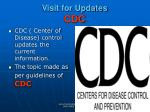 visit for updates cdc