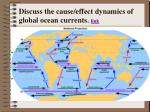 discuss the cause effect dynamics of global ocean currents link