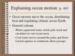 explaining ocean motion p 441