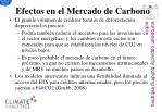 efectos en el mercado de carbono