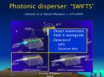 photonic disperser swifts
