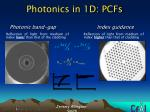 photonics in 1d pcfs