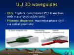 uli 3d waveguides