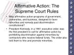 affirmative action the supreme court rules